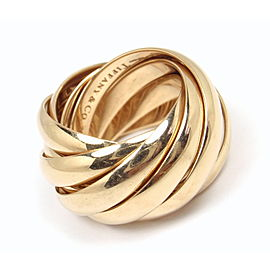 Tiffany & Co. Paloma Picasso 18K Rose Gold Wedding Rolling 9-Band Ring Size 6