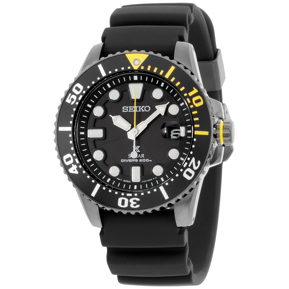 """Image of """"Seiko Prospex Sne441 Stainless Steel & Silicone Quartz 43mm Mens Watch"""""""