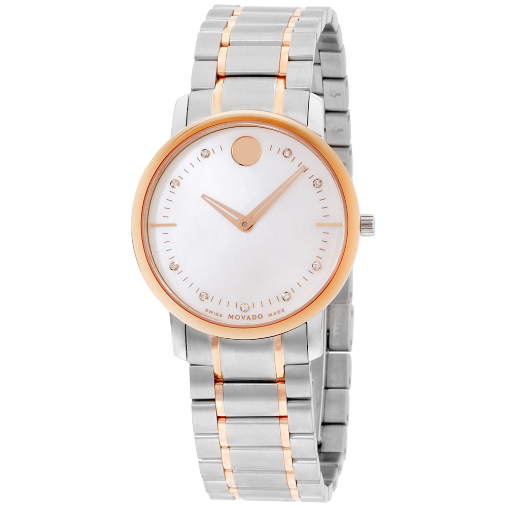 "Image of ""Movado TC 0606692 Rose Gold Tone Stainless Steel Quartz 30mm Womens"""