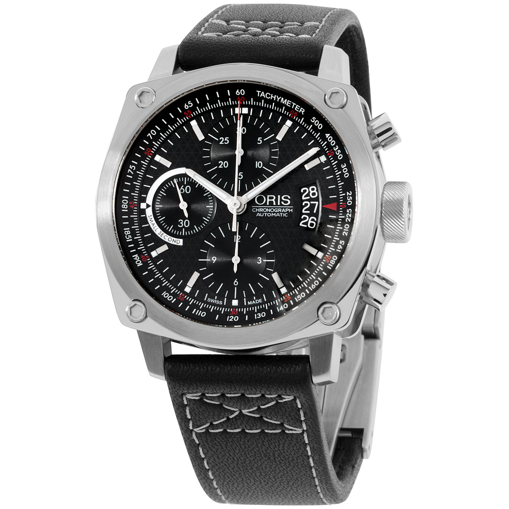 "Image of ""Oris BC4 67476164154Ls Stainless Steel Chronograph Automatic 43mm Mens"""
