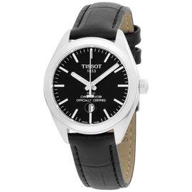 Tissot PR 100 T1012511605100 Stainless Steel & Leather Quartz 33mm Womens Watch
