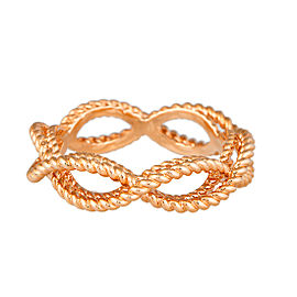Roberto Coin New Barocco 18K Rose Gold Braid Ring Size 6.5