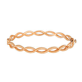 Roberto Coin New Barocco 18K Rose Gold Braid Bangle Bracelet