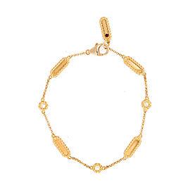 Roberto Coin New Barocco 18K Yellow Gold 0.14ct Diamond Station Link Bracelet