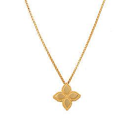 Roberto Coin 18K Yellow Gold Princess Flower Pendant Necklace