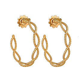 Roberto Coin 18K Yellow Gold Princess Flower 3 Tiered Dangle Earrings