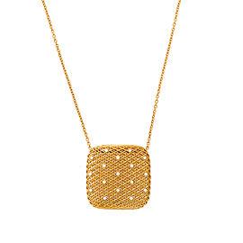 Roberto Coin Soie 18K Yellow Gold 0.13ct Diamond Pendant Necklace