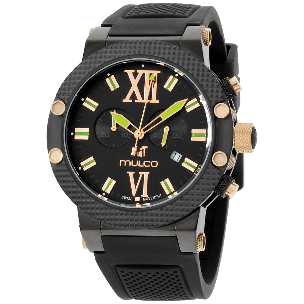 "Image of ""Mulco Nuit Mw311010025 Rose Gold Tone Stainless Steel & Silicone"""