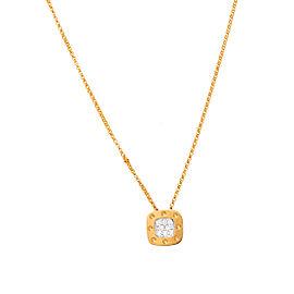 Roberto Coin Pois Moi 18K Yellow Gold 0.10ctw Diamond Pendant Necklace