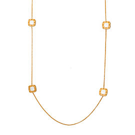 Roberto Coin Pois Moi 18K Yellow Gold Mother Of Pearl Necklace