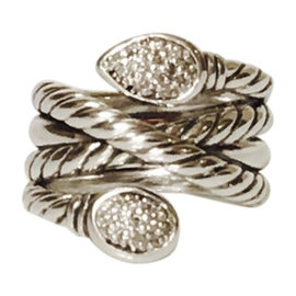 David Yurman Diamond Renaissance Wrap Ring Size 6