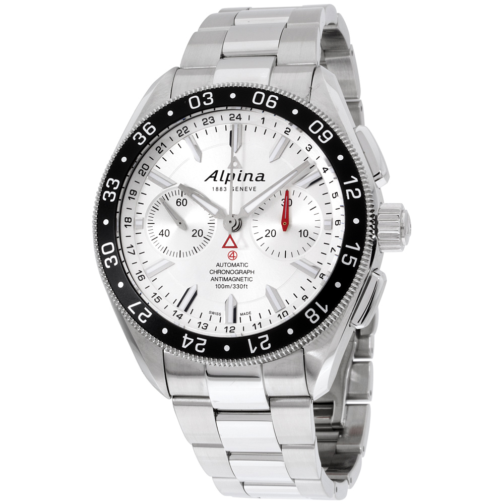 """Image of """"Alpina Alpiner Al860S5Aq6B Silver Dial Stainless Steel 44mm Mens Watch"""""""