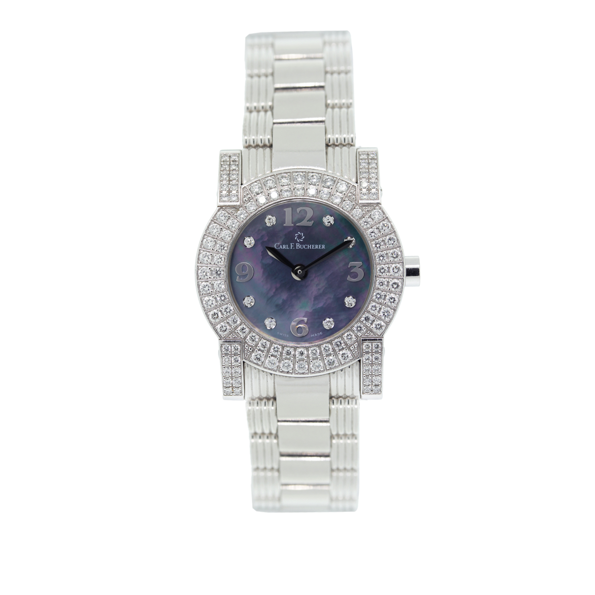 "Image of ""Carl F Bucherer Pathos 51.102 18K White Gold 26mm Womens Watch"""
