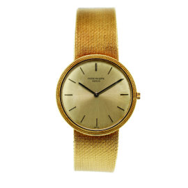 Patek Philippe 18K Yellow Gold 32mm Mens Vintage Watch
