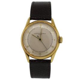 Vacheron Constantin Geneve 18K Yellow Gold Leather Unisex Watch