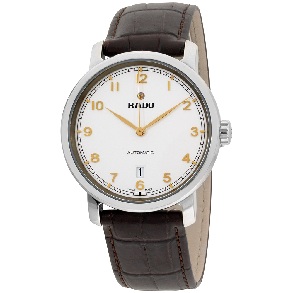 """Image of """"Rado Diamaster R14077136 Stainless Steel & Leather Automatic 41mm Mens"""""""
