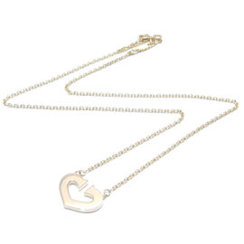 Cartier 18K Yellow Gold C Heart Pendant Necklace