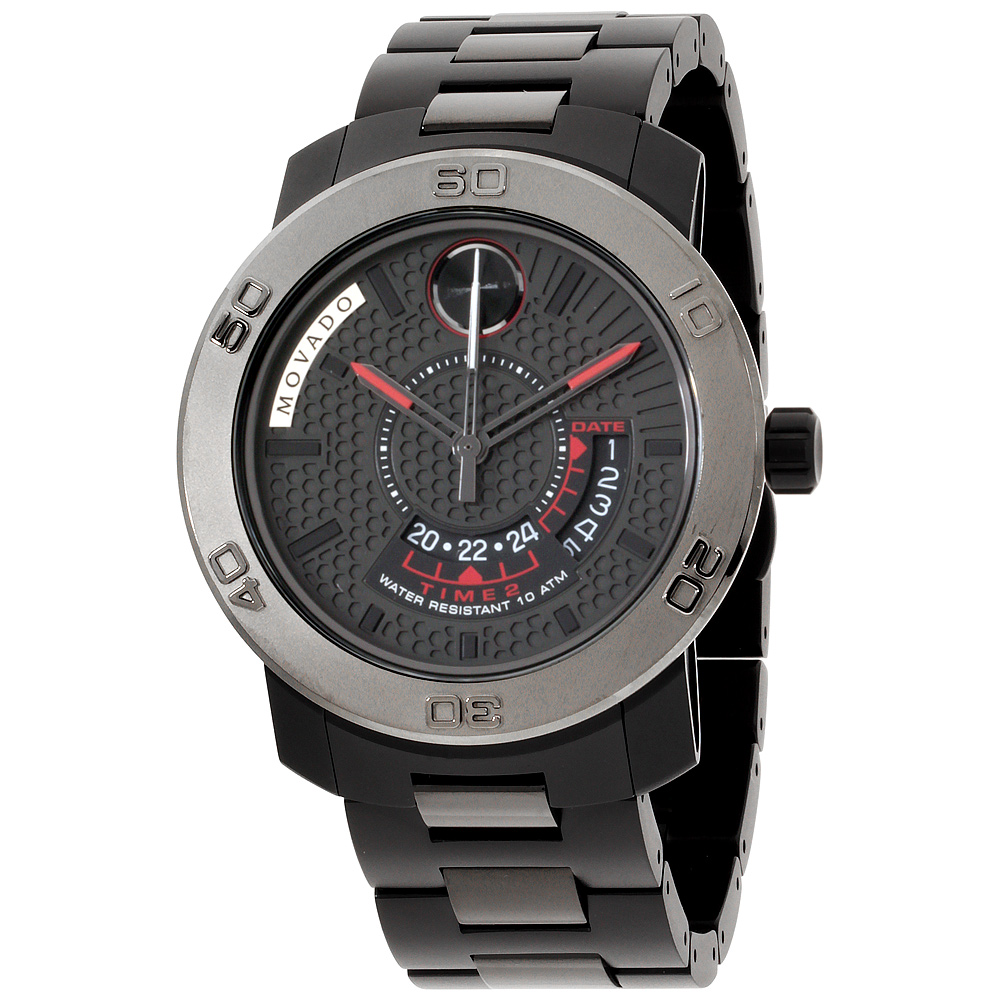 "Image of ""Movado Bold 3600384 Black Ion-Plated Stainless Steel 43.5mm Mens Watch"""