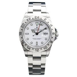 Rolex Explorer II 16570 Stainless Steel White 40mm Mens Watch