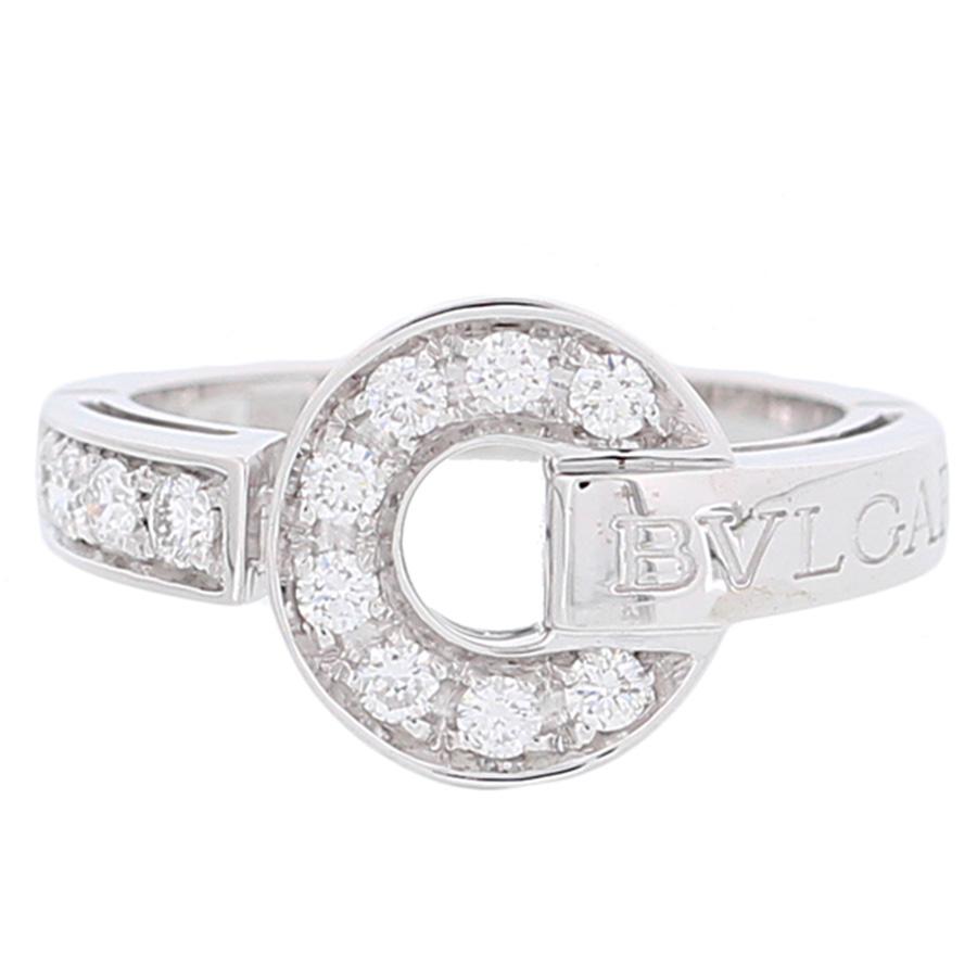 """Image of """"Bulgari 18K White Gold Diamond Bulgari Bulgari Ring Size 4.25"""""""