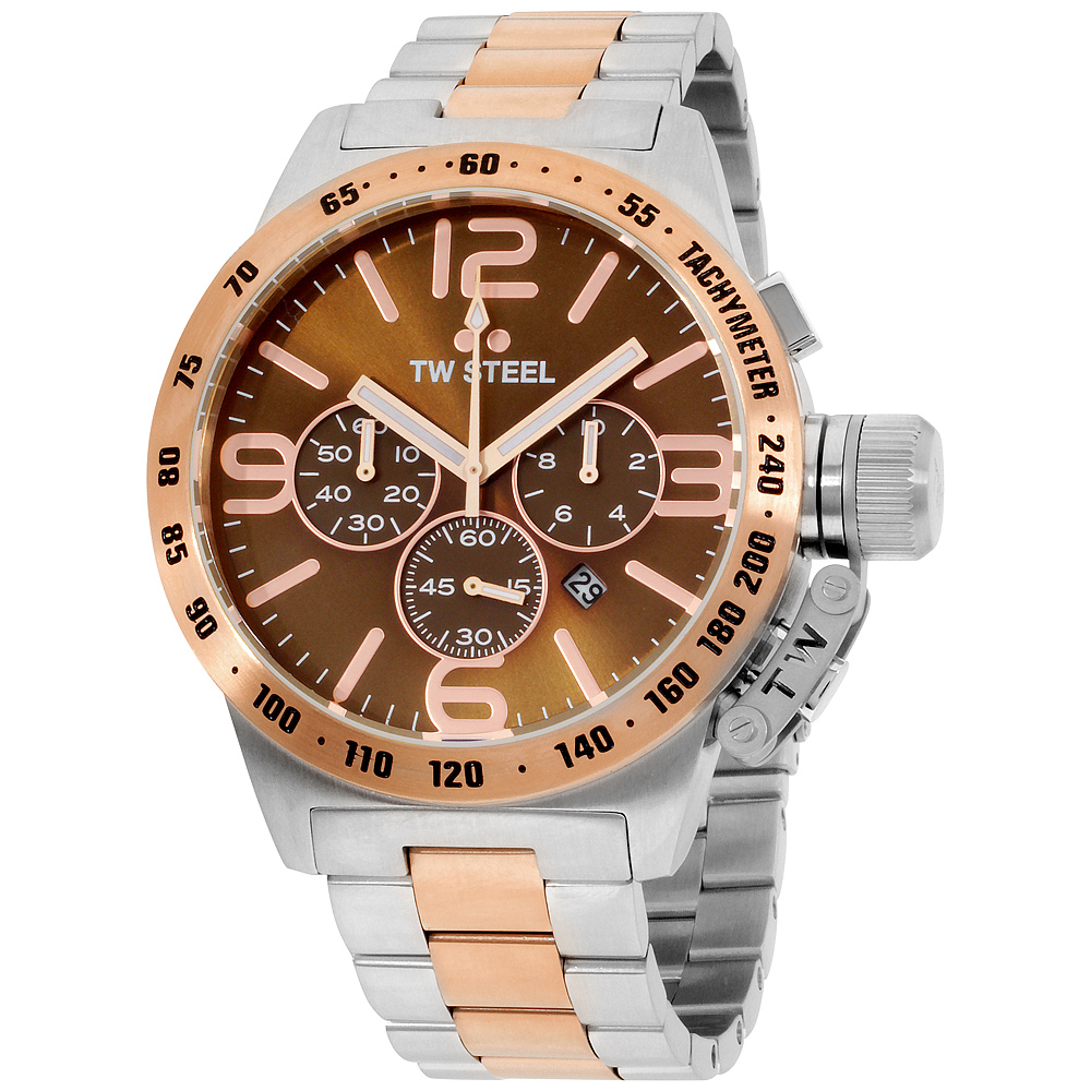 "Image of ""TW Steel Canteen Cb154 Two-Tone Stainless Steel With PVD Rose Gold"""