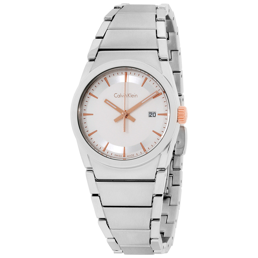 "Image of ""Calvin Klein Damenuhr K6K33B46 Silver Dial 30mm Womens Watch"""