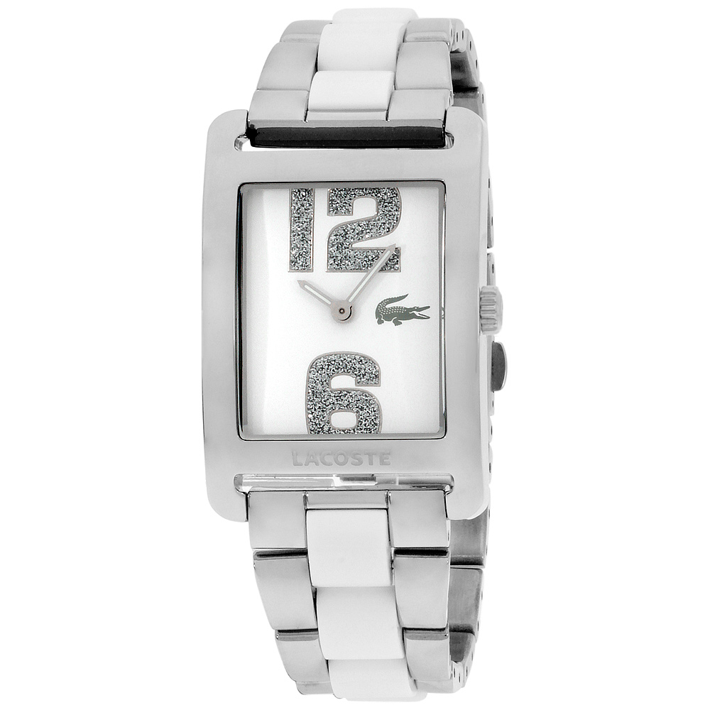 "Image of ""Lacoste 2000650 Stainless Steel White Dial Quartz 28mm Womens Watch"""
