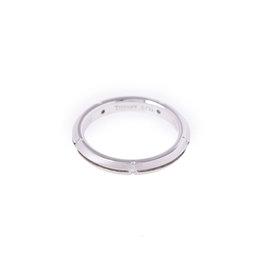 Tiffany & Co. 18K White Gold Diamond Ring Size 3.75