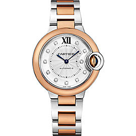 Cartier Ballon Bleu W3BB0006 Stainless Steel with Silver Dial 33mm Womens Watch