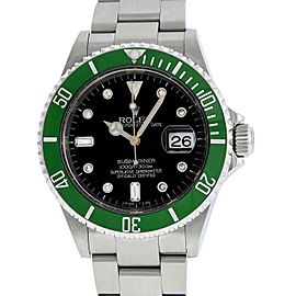 Rolex Submariner 16610 Stainless Steel & Diamond 40mm Mens Watch