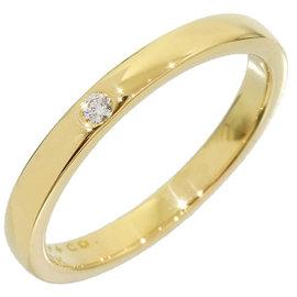 Tiffany & Co. 18K Yellow Gold 0.01 Ct Diamond Size 4.75 Ring