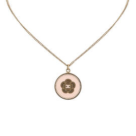 Chanel Gold Tone Metal Camelia Pendant Necklace