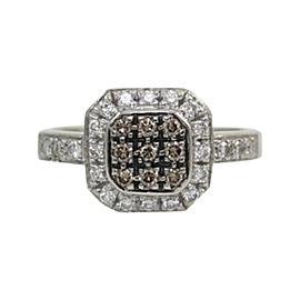LeVian 14K White Gold .55 ctw Chocolate & White Diamond Ring Size 7