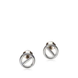 Hermes Sterling Silver Chain Dancre Earrings