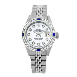 Rolex Datejust 6917 Stainless Steel & Silver Diamond Dial 26mm Womens Watch