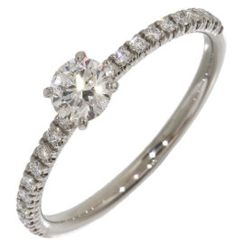 Cartier Platinum with 0.25ct. Diamond Solitaire Ring Size 4.75