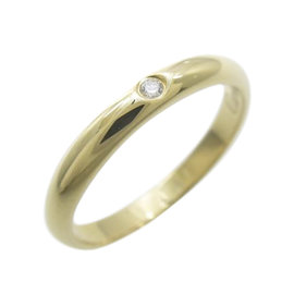 Cartier 18K Yellow Gold and Diamond Wedding Band Ring Size 4