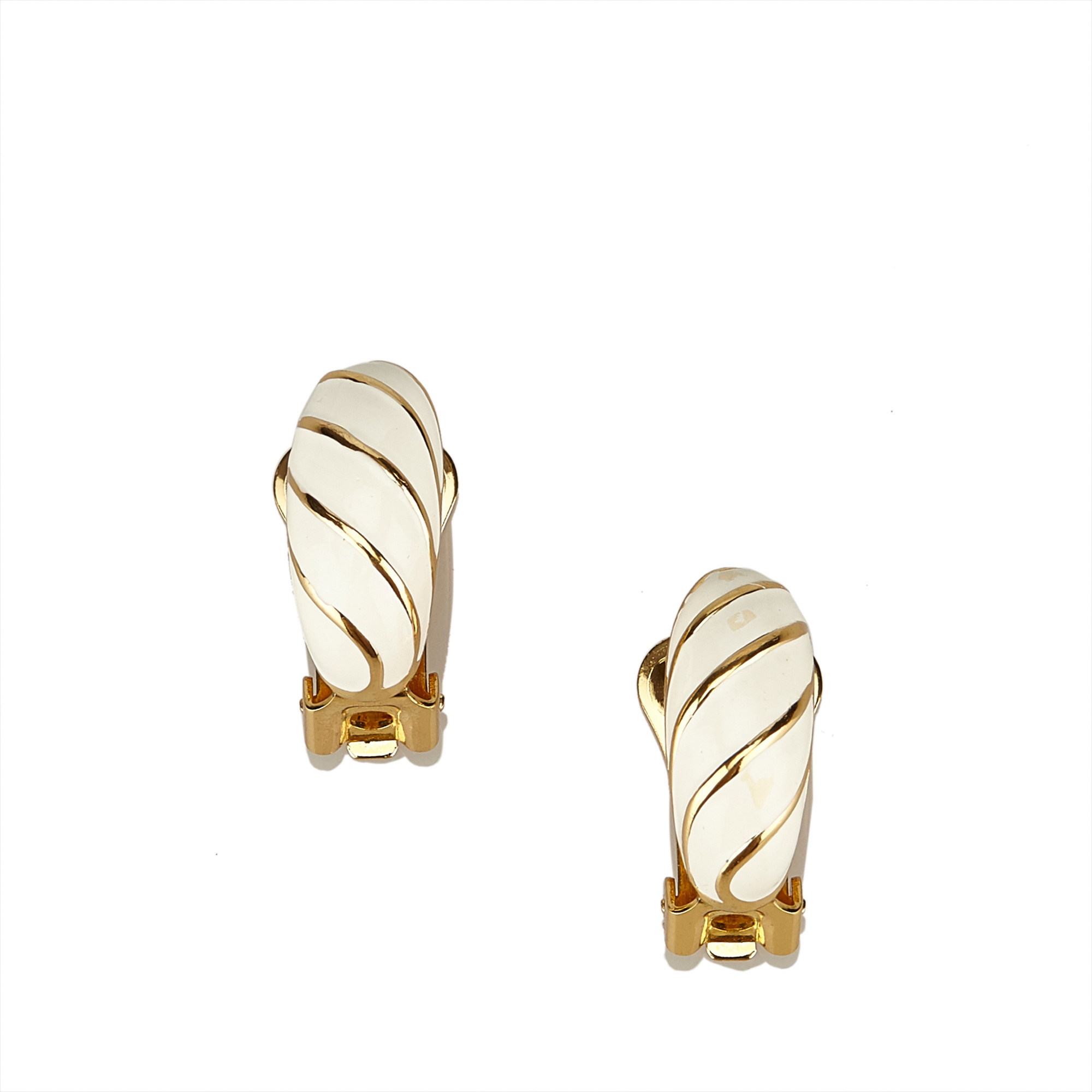 "Image of ""Dior Gold Tone Hardware Clip On Earrings"""
