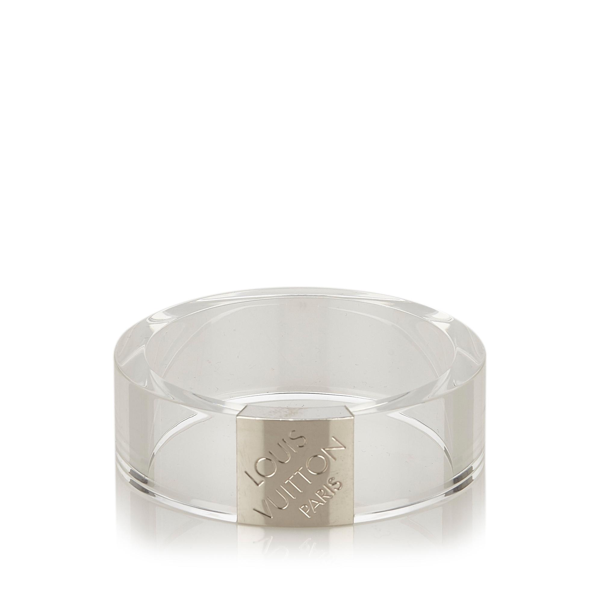"Image of ""Louis Vuitton Plastic Resin Silver Tone Hardware Bracelet"""
