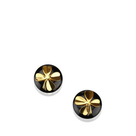 Chanel Gold Tone Hardware Plastic Earrings
