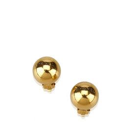 Chanel Gold Tone Hardware Clip On Earrings