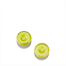 Chanel Ceramic Round Clip On Earrings