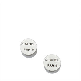 Chanel Silver Tone Hardware Earrings