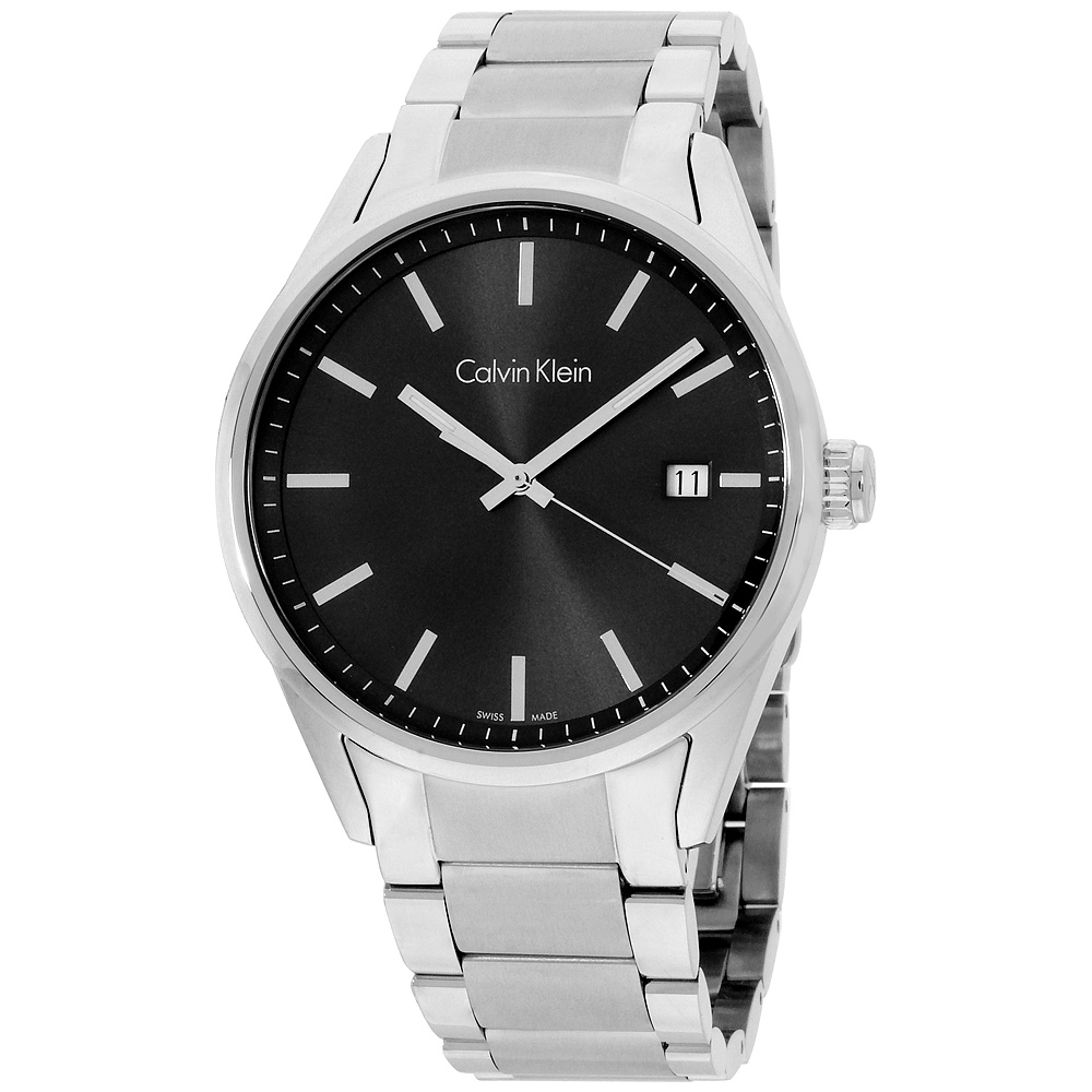 "Image of ""Calvin Klein Formality K4M21143 Black Dial Stainless Steel 44mm Mens"""