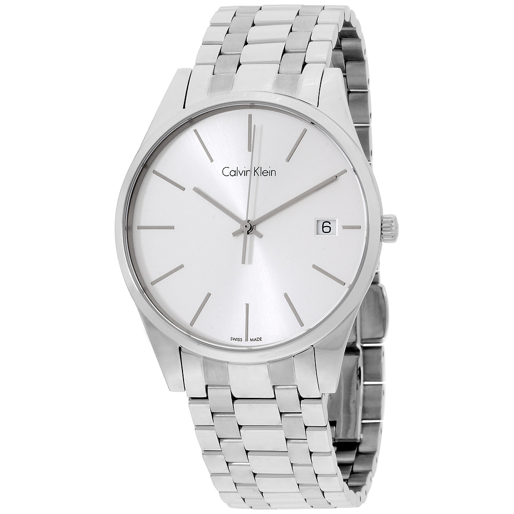 "Image of ""Calvin Klein Date Display K4N21146 Stainless Steel Time 40mm Mens"""