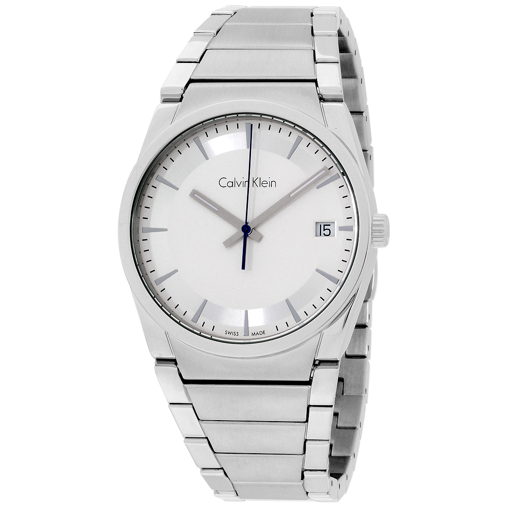 "Image of ""Calvin Klein CK Step K6K31146 Stainless Steel Silver Dial 38mm Unisex"""