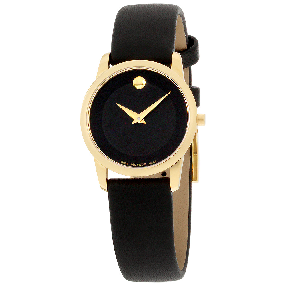 "Image of ""Movado Museum 0606877 Gold-Plated Stainless Steel & Leather Quartz"""