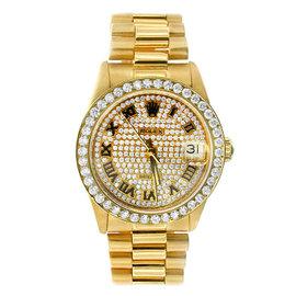 MidSize Datejust Gold Rolex Diamond Presidential Watch