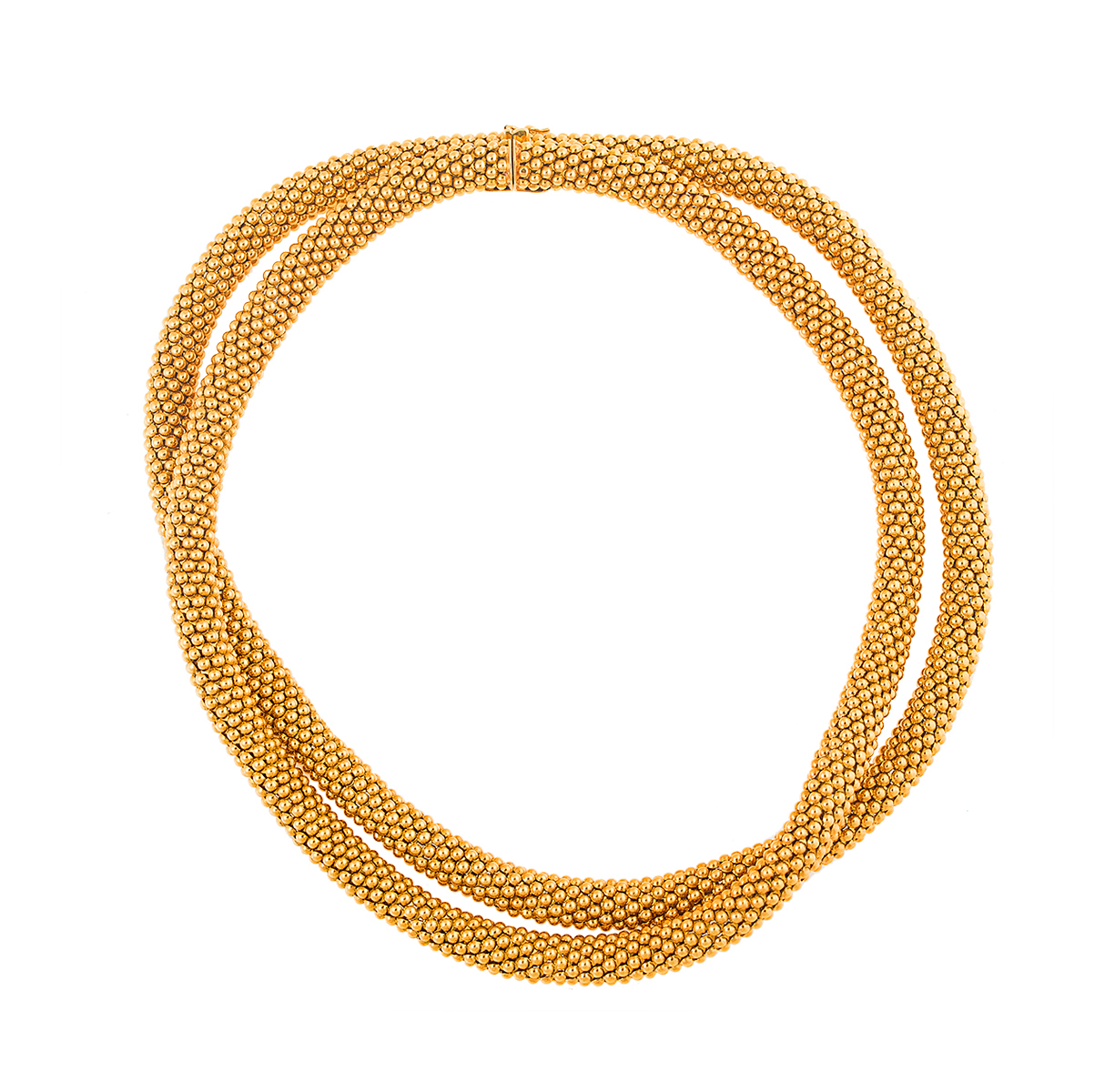 "Image of ""18K Yellow Gold Tiffany & Co. Double Strand Necklace"""