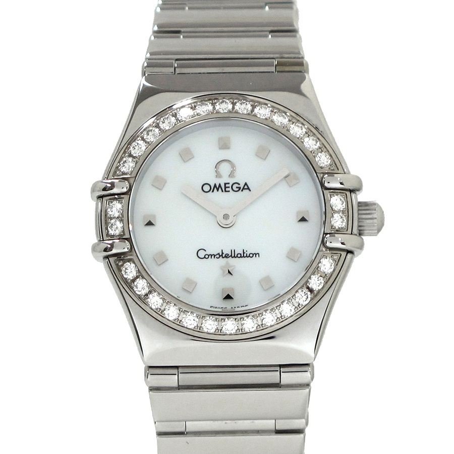"""Image of """"Omega Constellation 1267.3 Stainless Steel With Diamond Bezel 22mm"""""""